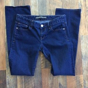 Express Women Jeans Blue Size 8R Barely Boot